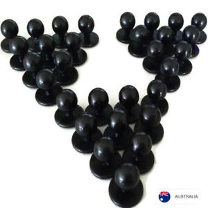 NEW-Chef-Jacket-Buttons-30-X-Black-Chefs-Button-Replacement-pack-set-stud