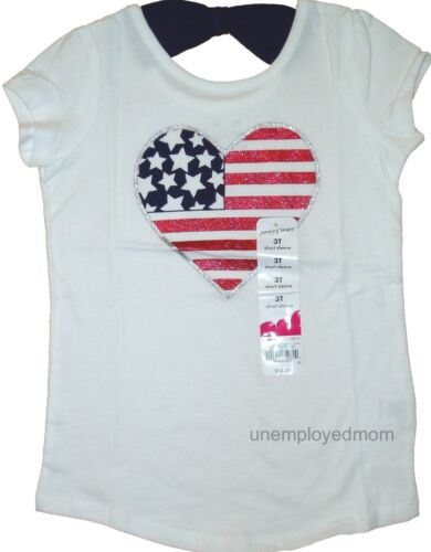 Memorial Day July 4th Holiday Girls Boys American Fourth Top Patriotic Tee Shirt