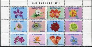 Surinam-2015-Blumen-Flowers-Blueten-Blossoms-Pflanzen-2812-2823-Postfrisch-MNH