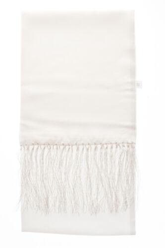 Blanc 100/% Soie Écharpe pour Robe Mariage Costume Soirée Smoking Croisière Bal