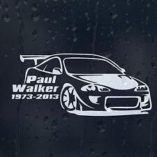 Paul Walker 1973-2013 IL VELOCE E FURIOUS auto decalcomania Adesivo Vinile