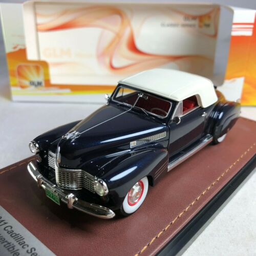 1//43 GLM Model Cadillac 62 Series Convertible Coupe Blue Metallic GLM119702