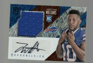 Jonathan-Williams-2016-Unparalleled-ROOKIE-Player-Worn-Jersey-Autograph-107-199