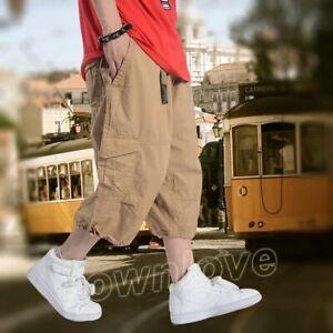 Cargo-Mens-Casual-Overalls-Shorts-Pants-Baggy-Loose-Shorts-Size-32-50-Skateboard