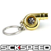 24k Gold Metal Spinning Turbo Bearing Keychain Key Ring/chain Atv/utv Q1