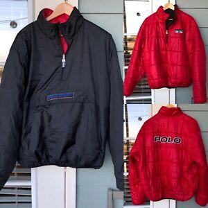 Vintage Polo Sport Ralph Lauren Reversible Puffer Jacket ...