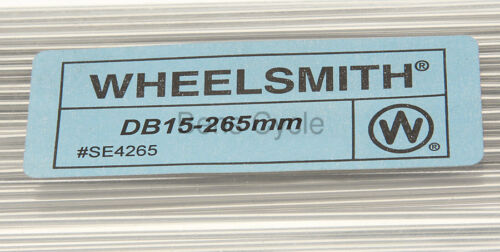 Wheelsmith DB15 Spokes Double Butted 265mm 15g 1.8//1.5//1.8 Lot of 10 Silver NEW