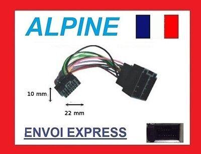 Cable ISO pour autoradio ALPINE iDA-X303 iDA-X305 iDA-X305S iDA-X311 iDA-X311RR