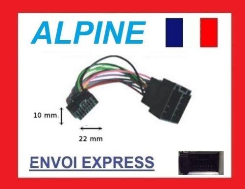 Cable adaptateur ISO autoradio ALPINE CDE-113BT ; CDE-114BTi ; CDE-126BT