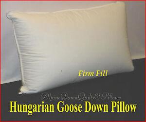 1-STANDARD-SIZE-PILLOW-95-HUNGARIAN-GOOSE-DOWN-FIRM-SUPPORT-800-FILL-POWER