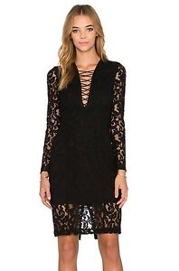 Details About Bardot Black Lace Sheath Dress Sz 8m