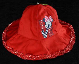 7535907ef7eef Disney MINNIE MOUSE Red LOVE Infant Baby Toddler Floppy Bucket Sun ...