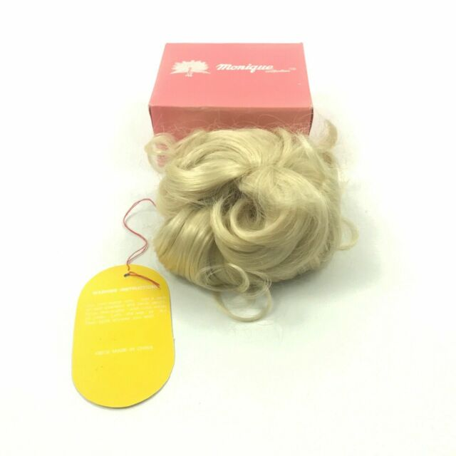 Lydia Monique Blonde Wig Pony Bun Wavy Hair Doll Making Parts Small ? 4.F2
