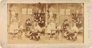UK Stereo Scena Da Genere Artistico, Foto Vintage Albumina PL62L5