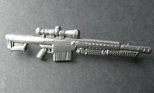 "Barrett M82 A1 M107 SA Sniper Rifle Firearm Gun Light Fifty Hat Pin Badge 2.5 """