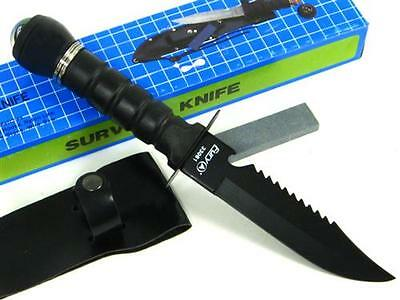 RAMBO Black FIXED Knife SURVIVAL Kit + SHEATH New!