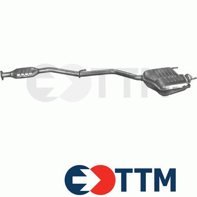 Mittelschalldämpfer Auspuff Mercedes C220-250 W,T202
