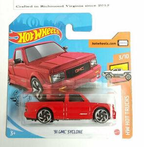 /'91 GMC Syclone 150//250 RED H58 2020 Hot Wheels SHORT CARD