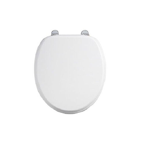 Burlington Chrome Matt Weiß Soft Close Toilet Seat S45, With or Without Handles