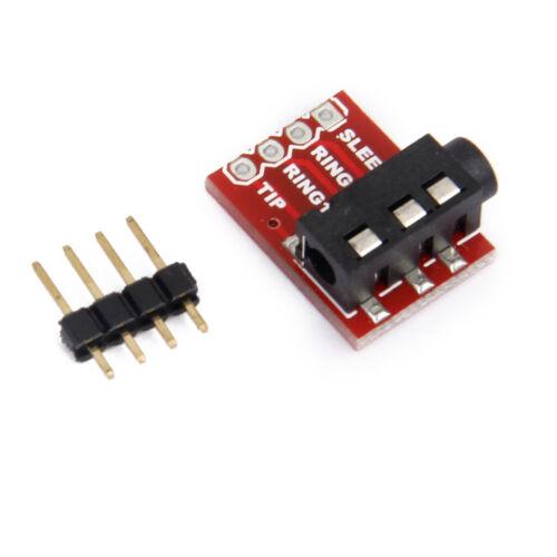 3.5mm Jack Breakout Board Headset Audio Stereo Socket Extension Module DIY