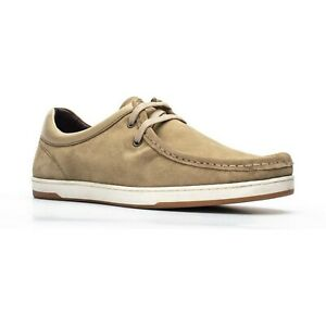 Base London Hommes Dougie Daim Chaussure Lacet Taupe Taille UK 9 Ue 43