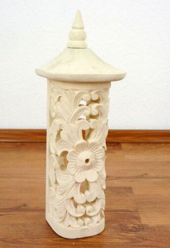 Windlicht aus Sandstein Bali Laterne,Kerzenhalter Teelichthalter Gartenlanmpe