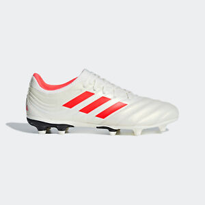5456127c Adidas Men's Copa 19.3 FG Soccer Cleats (Off-White/Solar Red/Black ...