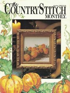 The-Country-Stitch-Monthly-Magazine-Oct-1988-Bears-Cows-Pumpkins-Roosters-amp-More