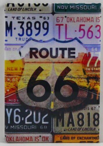 "Americana Route 66 Vintage Travel Poster 2/"" X 3/"" Fridge Locker Magnet"