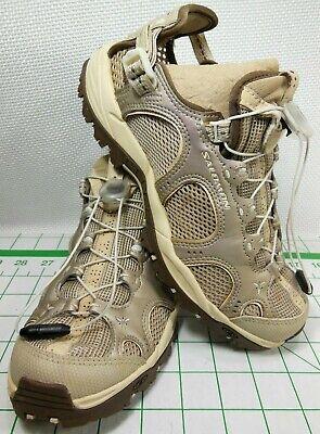 Details about Salomon X Hiking Women's Brown Leather Contragrip Shoes Boots Size 6.5