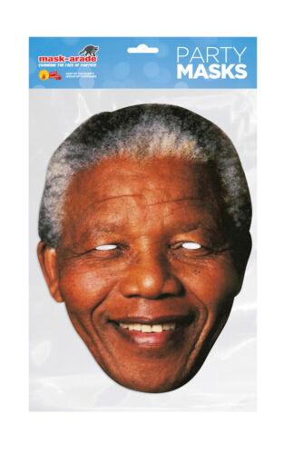 Nelson Mandela Face Party Mask Card A4 Fancy Dress President SA Ladies Men Kids