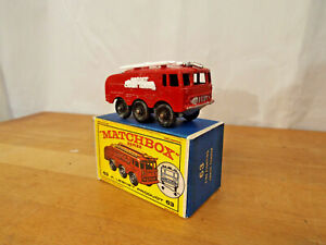 MATCHBOX-N-63b-Fire-CRASH-TENDER-ugello-d-039-argento-in-scatola
