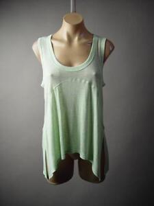 Pastel-Light-Mint-Green-Basic-Side-Slit-Casual-Boho-Tank-Top-227-mv-Shirt-S-M-L