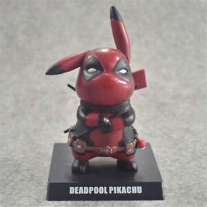 Anime-Pokemon-Pikachu-Cosplay-Deadpool-PVC-Figure-Statue-Anime-Toy-Hero-14cm