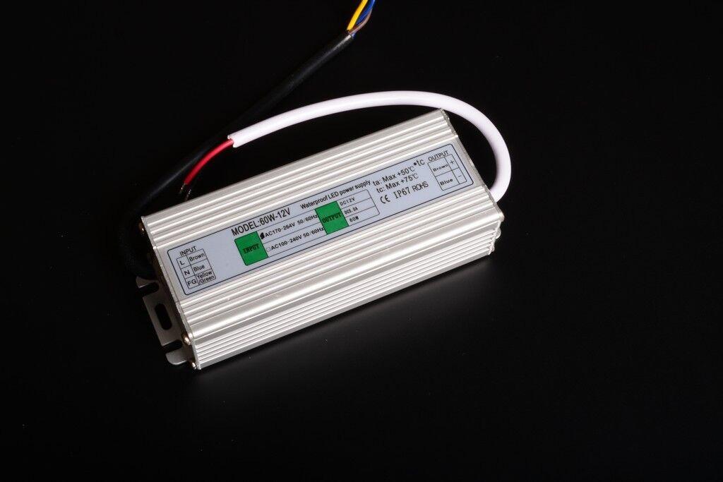 Power Supply 12v 60w 5am Pears Waterproof IP67 Slim Thin C6F2