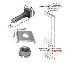 Shower Door Stainless Steel Pivot Pin W Hex Nut Amp Washer