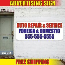 Auto Repair Banner Advertising Vinyl Sign Flag Service Foreign Domestic Car Shop