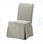 ikea cover for henriksdal chair long slipcover sagmyra gray - new