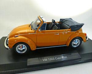 Vw 1303 Cabriolet, Orange, 1:18 Norev
