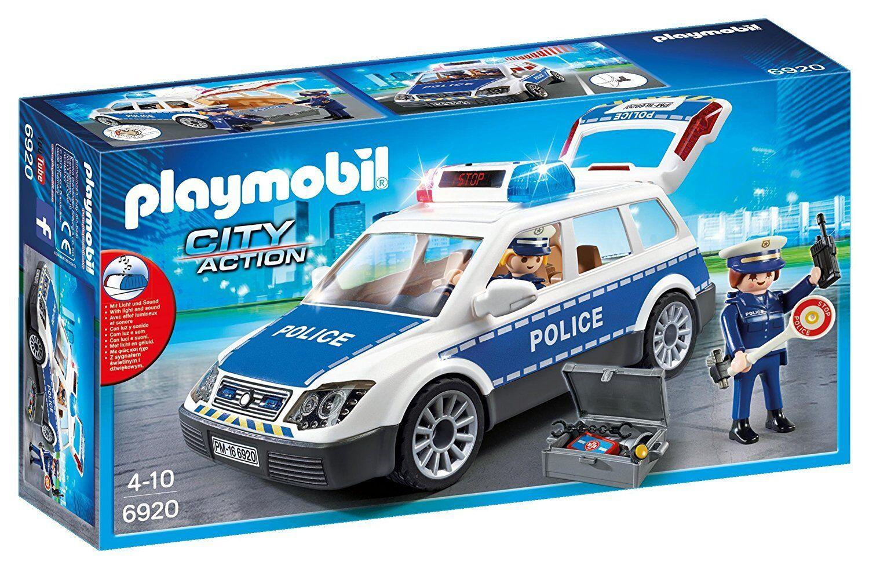 Playmobil City Action 6920- Auto di Polizia con Luci y Sonido. de 4 a 10 años