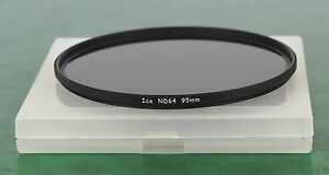 NEW ICE BRAND 95mm ND 64 NEUTRAL DENSITY FILTER. 6 STOP. OPTICAL GLASS.