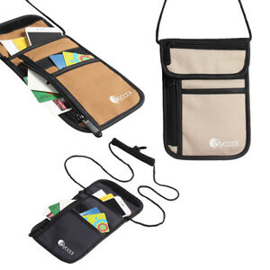 Unisex-Travel-Secure-Passport-Neck-Wallet-Holder-Bag-Money-Cards-Hidden-Case-Bag
