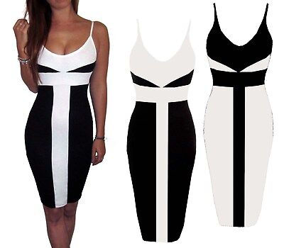 Womens Party Dress Bodycon Mini Black Size 8 10