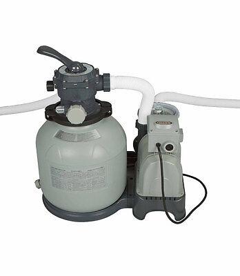 "Intex Krystal Clear 14"" Sand Filter Pump For Aboveground Swimming Pool 28647EG"