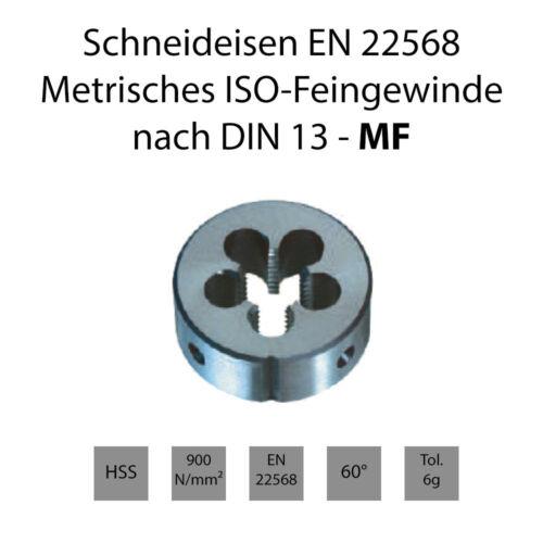 Schneideisen EN22568 MF - Rechts /& Links Metrisches ISO-Feingewinde