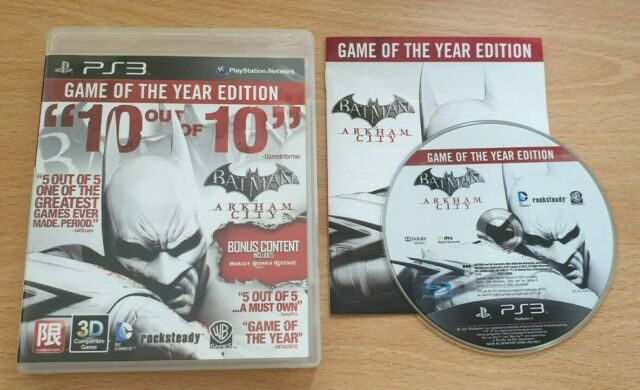 Batman Arkham City Game of the Year Edition-Region 3 Version-Playstation 3