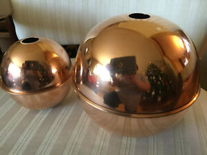 SET-OF-2-POLISHED-COPPER-BALLS-FOR-A-WEATHERVANE-6-034-AND-4-034