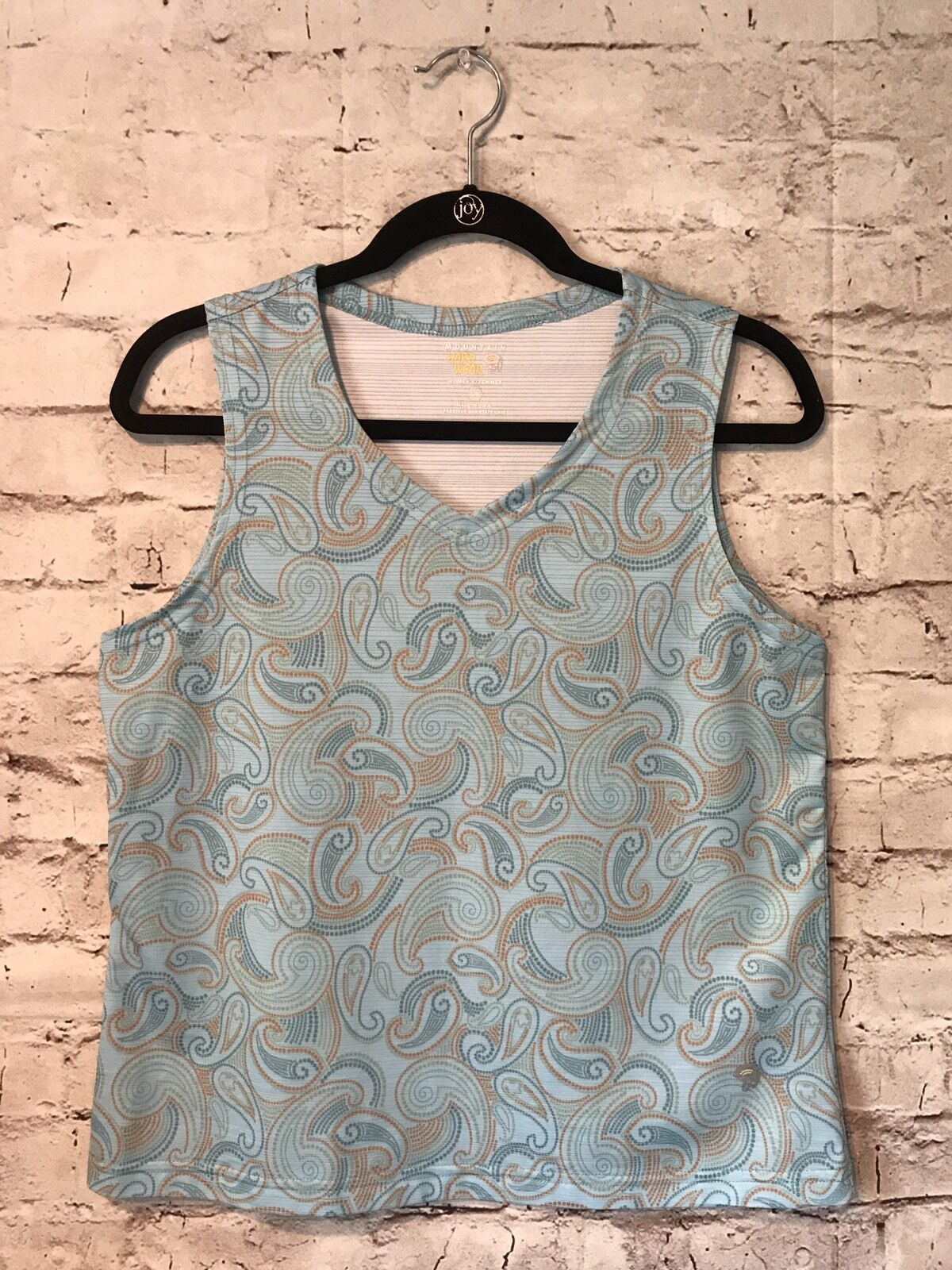 MOUNTAIN HARDWEAR womens paisley tank top L wicking athletic top outdoor casual