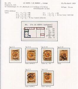 Memel-Nr-170-Studie-auf-7-Albenseiten-in-Einheiten-Typen-PLATTENFEHLER-C0253