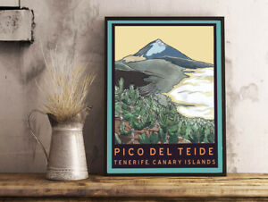 picture poster Travel gift Britain watercolor print art Sierra Leone